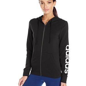 Adidas women's linear full zip fleece hoodie